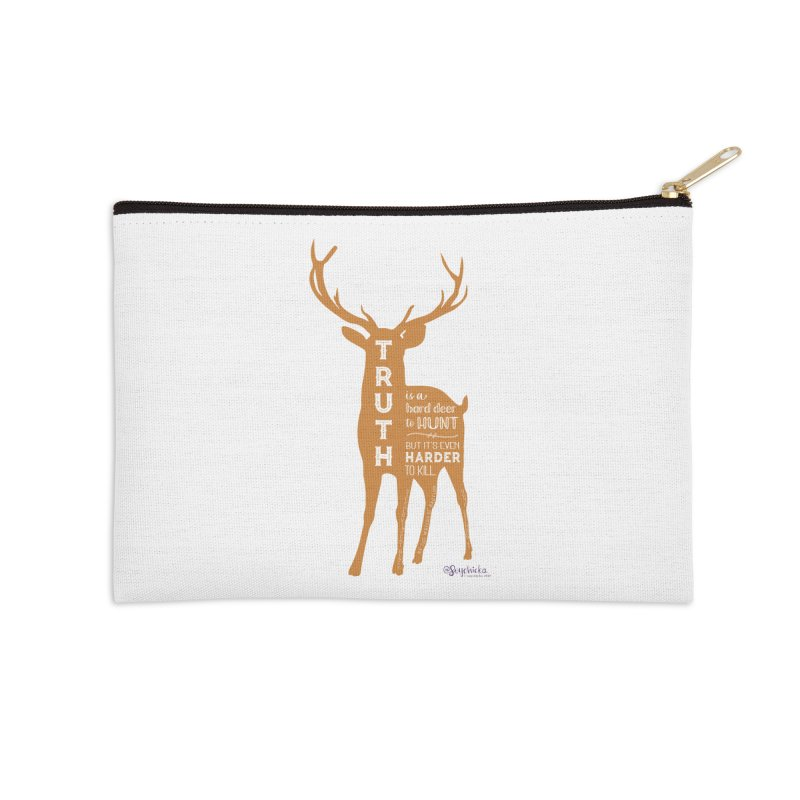 Truth is a hard deer to hunt. Accessories Zip Pouch by random facts
