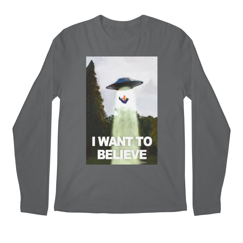 I Want To Believe Men's Longsleeve T-Shirt by random facts
