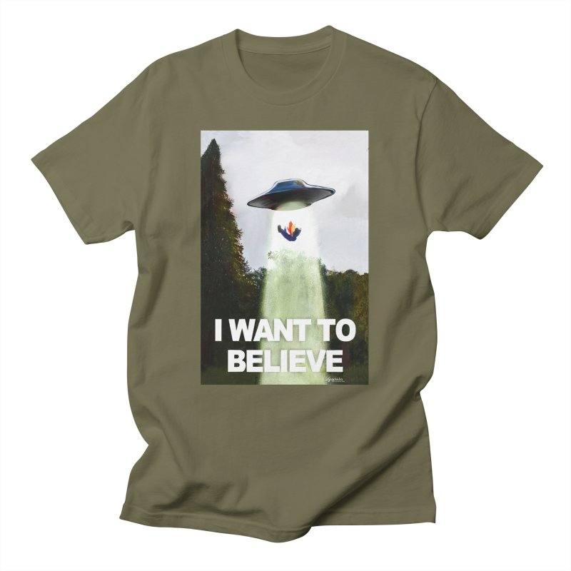 I Want To Believe Men's T-Shirt by random facts