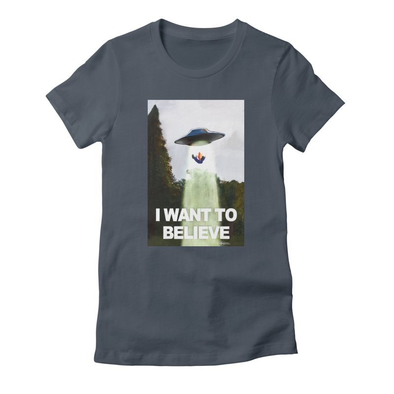I Want To Believe Women's T-Shirt by random facts
