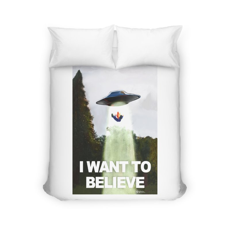I Want To Believe Home Duvet by random facts