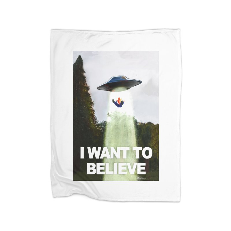 I Want To Believe Home Blanket by random facts