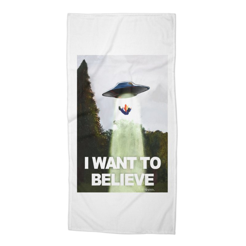 I Want To Believe Accessories Beach Towel by random facts
