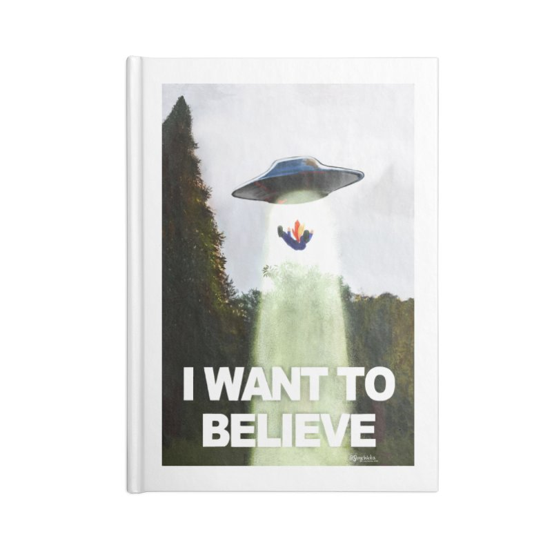 I Want To Believe Accessories Notebook by random facts