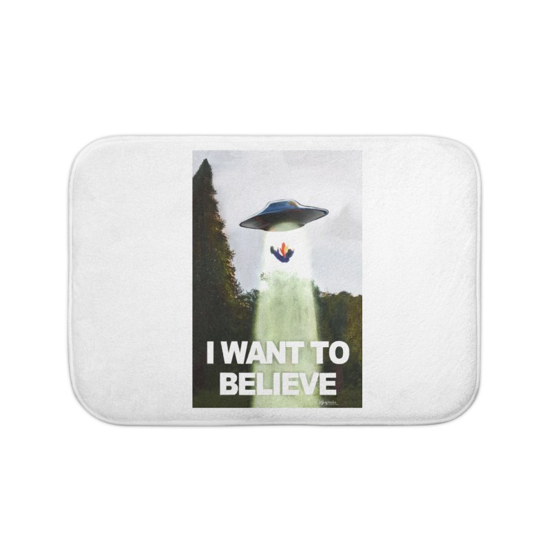 I Want To Believe Home Bath Mat by random facts