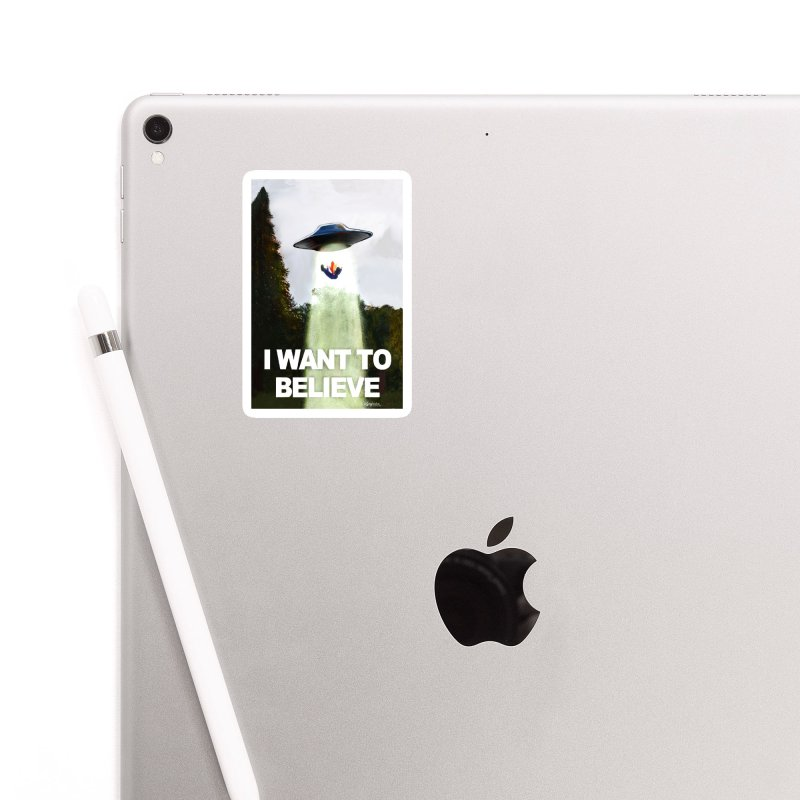 I Want To Believe Accessories Sticker by random facts