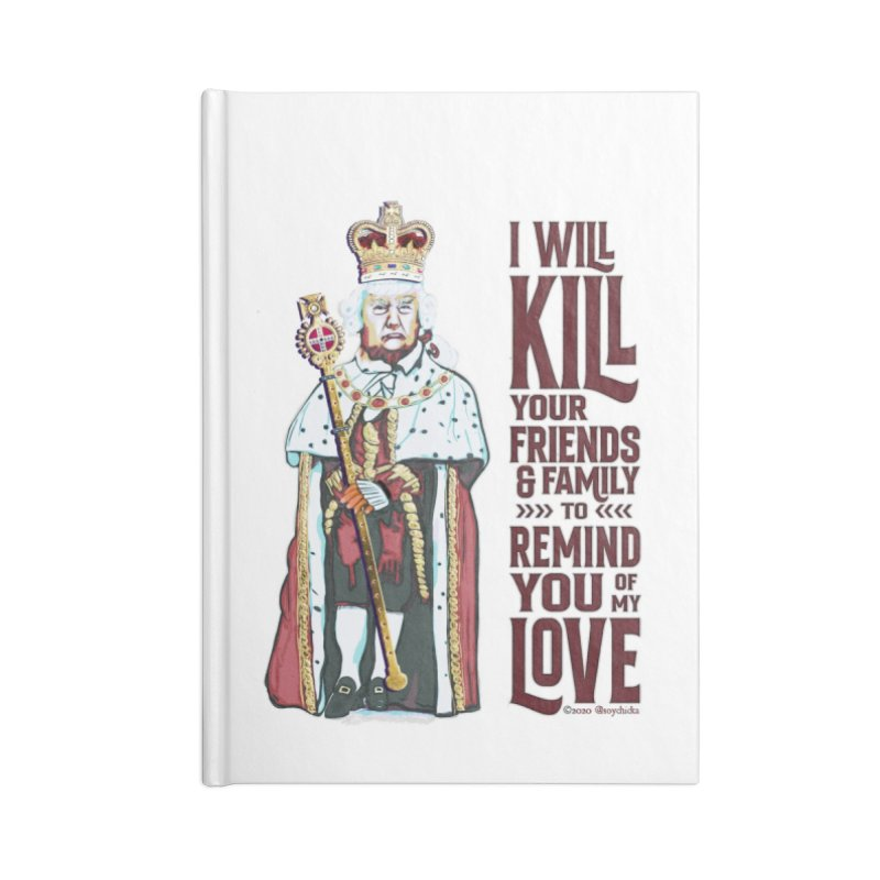 I wil kill your friends and family to remind you of my love (dark text) Accessories Notebook by random facts