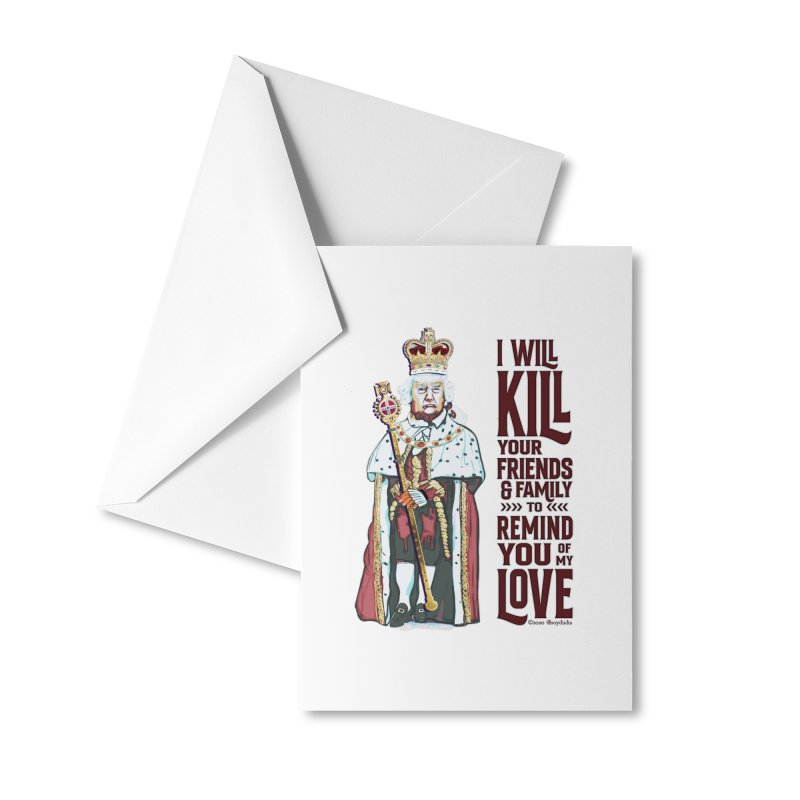 I wil kill your friends and family to remind you of my love (dark text) Accessories Greeting Card by random facts