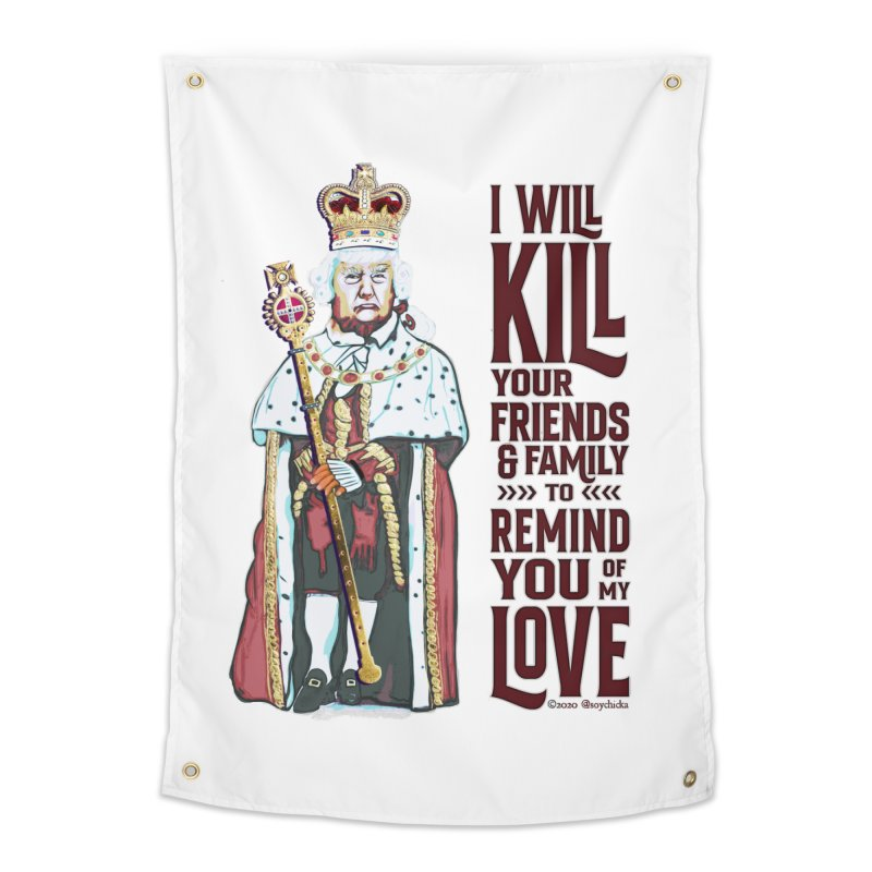 I wil kill your friends and family to remind you of my love (dark text) Home Tapestry by random facts
