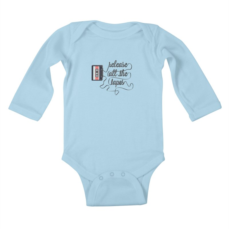 release all the tapes Kids Baby Longsleeve Bodysuit by random facts