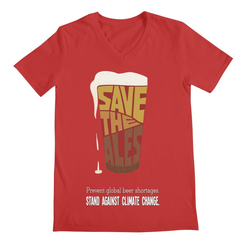 Save the Ales (20th anniversary remix) Men's V-Neck by random facts