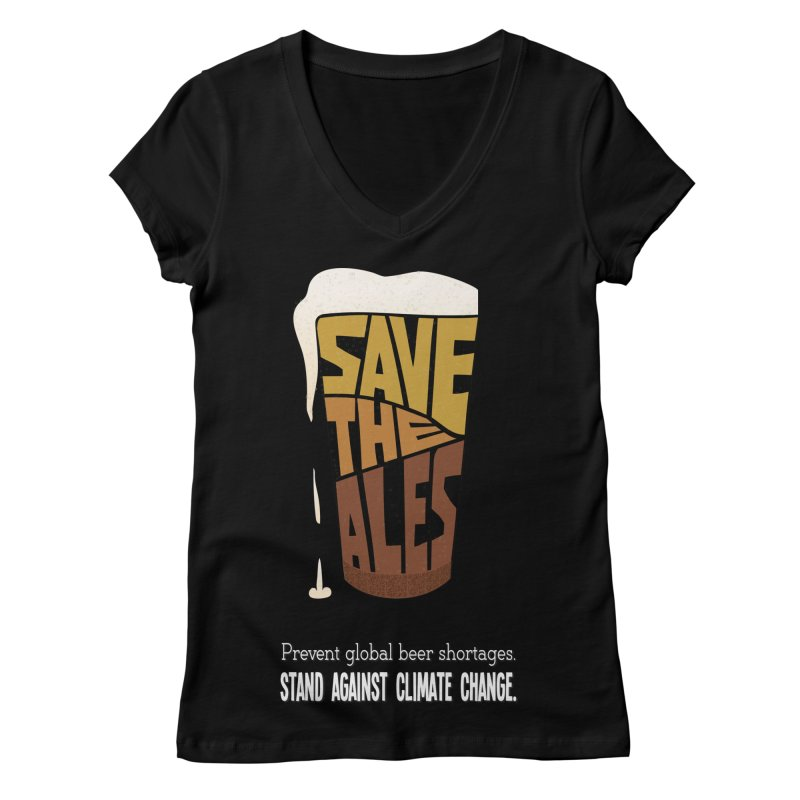 Save the Ales (20th anniversary remix) Women's V-Neck by random facts