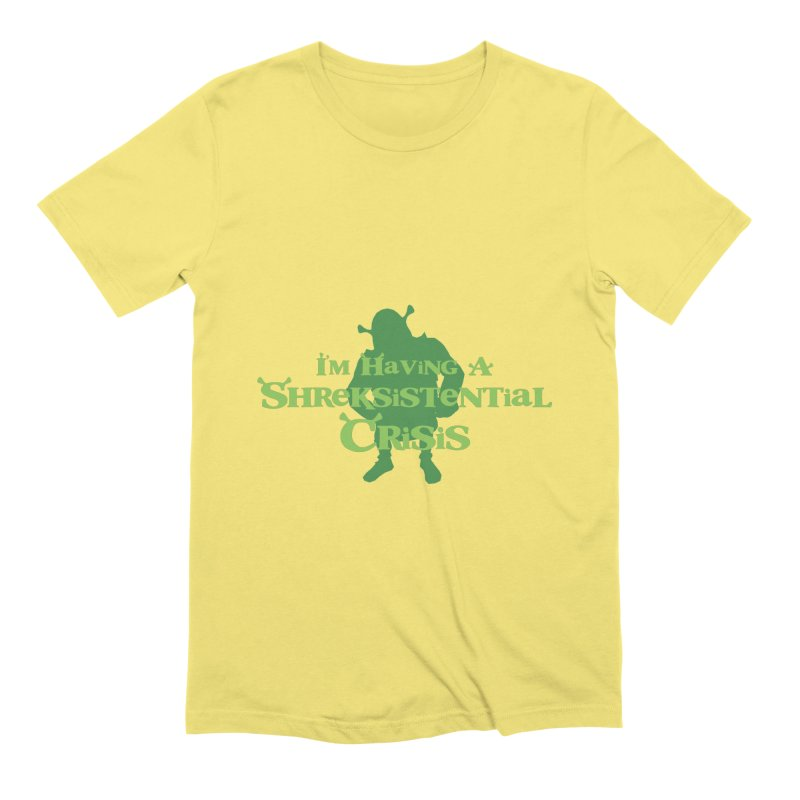 Shreksistential Crisis Tee in Men's Extra Soft T-Shirt Light Yellow by So Yesterday