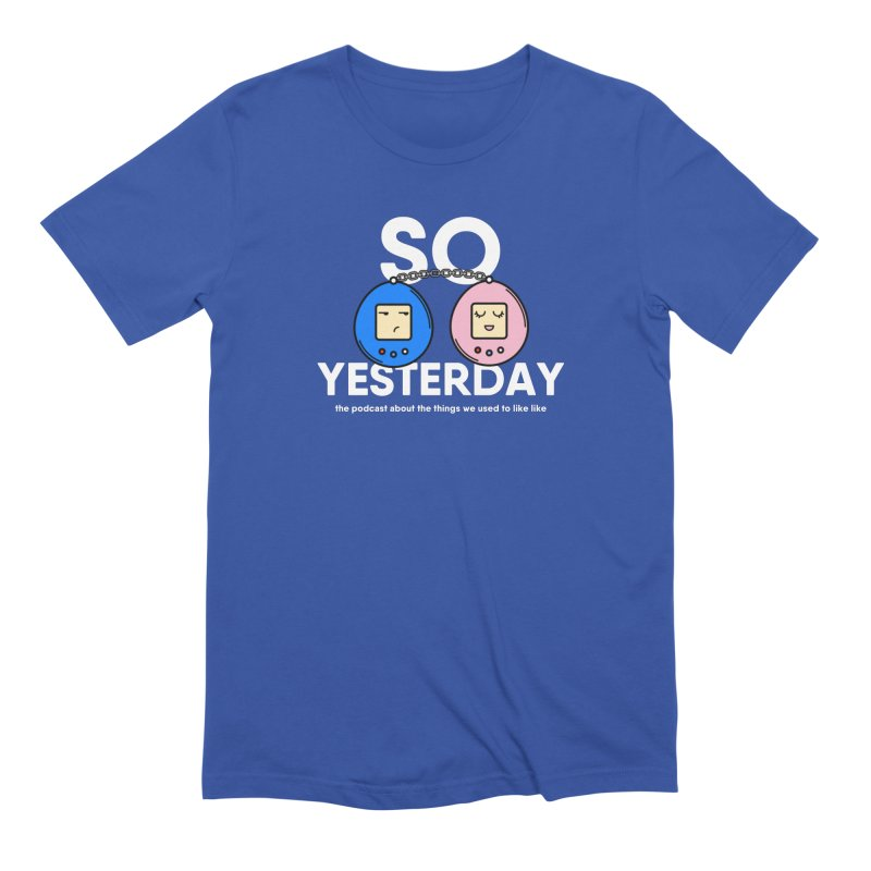 So Yesterday Logo Tee in Men's Extra Soft T-Shirt Royal Blue by So Yesterday