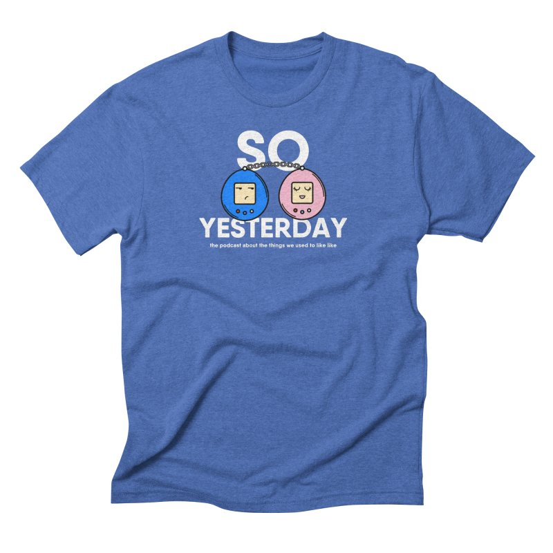 So Yesterday Logo Tee Men's Triblend T-Shirt by So Yesterday