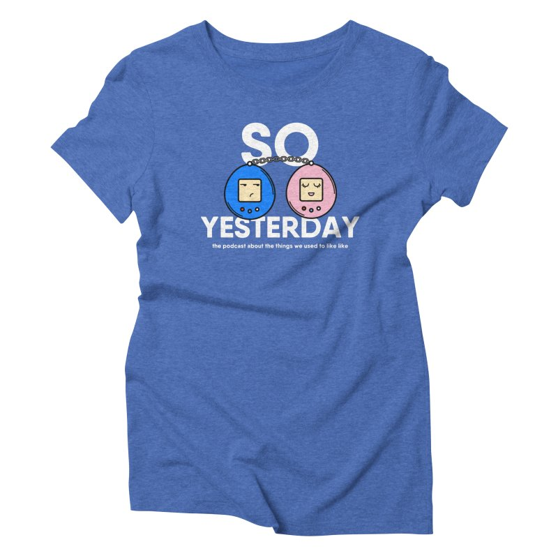 So Yesterday Logo Tee Women's Triblend T-Shirt by So Yesterday