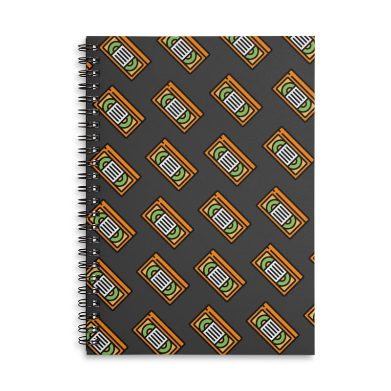 Nick VHS Notebook Accessories Lined Spiral Notebook by So Yesterday