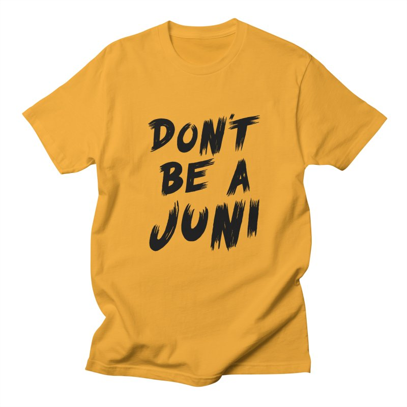 Juni Tee (Black Text) in Men's Regular T-Shirt Gold by So Yesterday