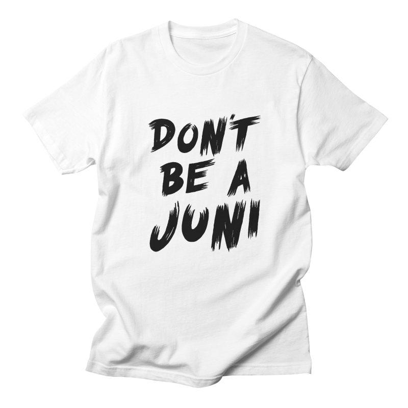 Juni Tee (Black Text) Men's Regular T-Shirt by So Yesterday