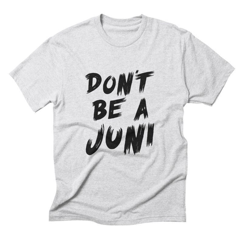 Juni Tee (Black Text) Men's Triblend T-Shirt by So Yesterday