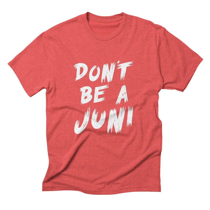 Juni Tee (White Text) Men's Triblend T-Shirt by So Yesterday