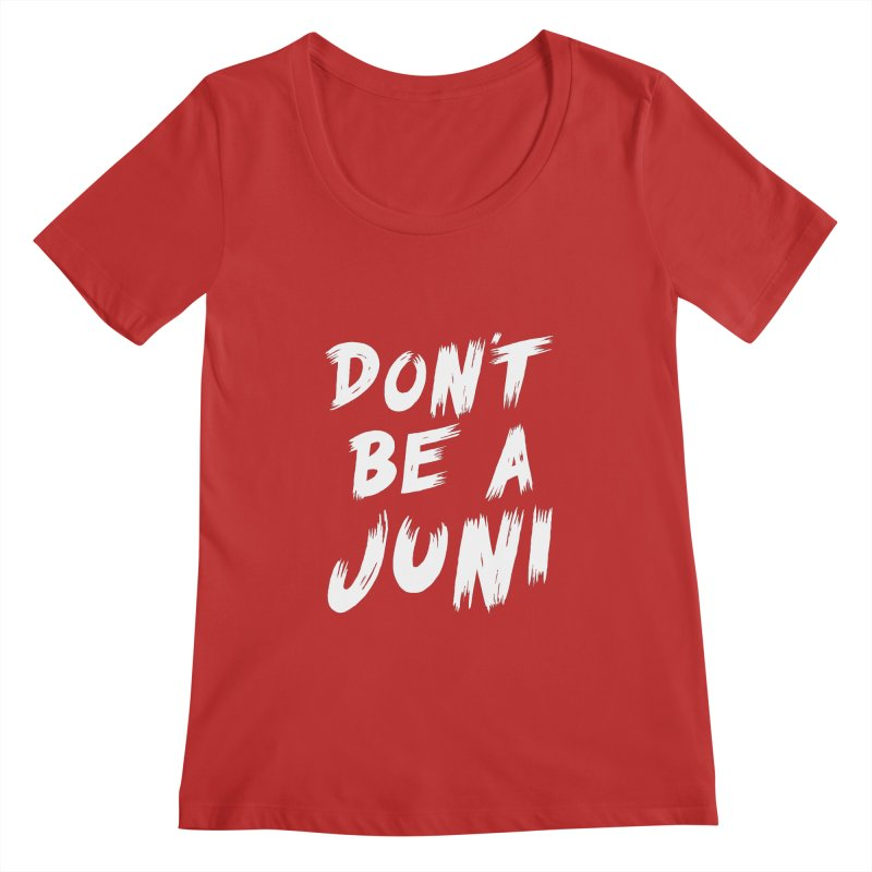 Juni Tee (White Text) Women's Regular Scoop Neck by So Yesterday