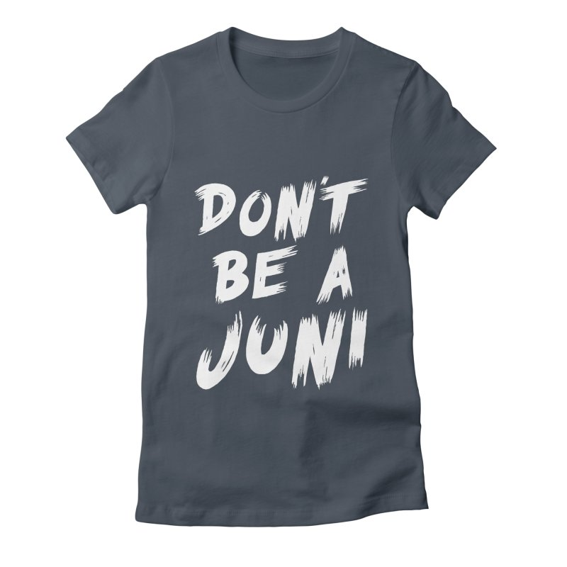 Juni Tee (White Text) Women's Fitted T-Shirt by So Yesterday