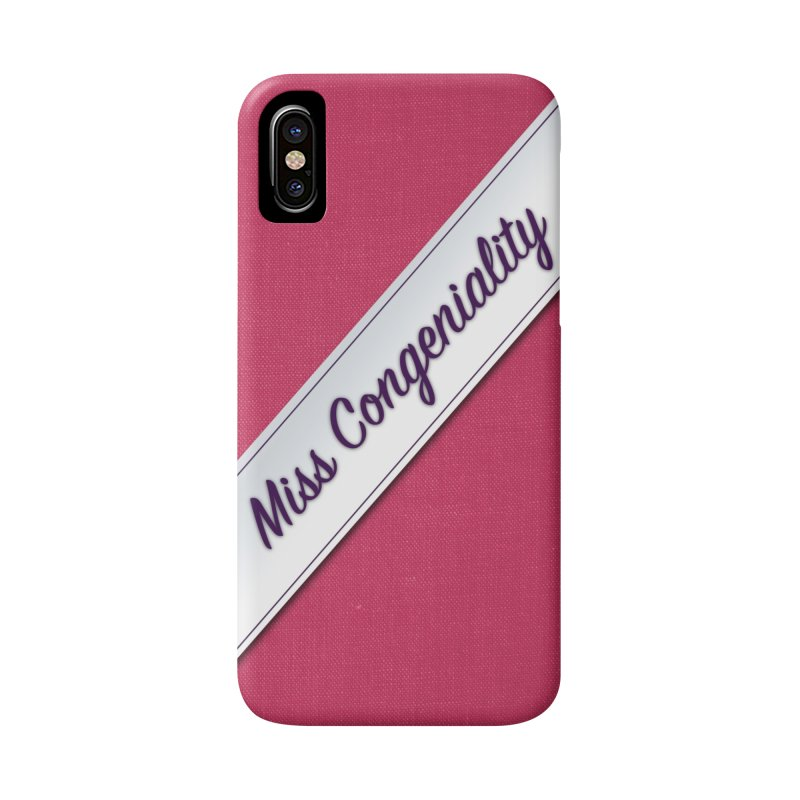 Miss Congeniality Phone Case in iPhone X / XS Phone Case Slim by So Yesterday