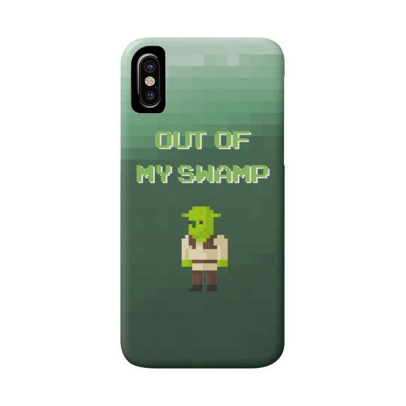 Pixel Shrek Phone Case in iPhone X / XS Phone Case Slim by So Yesterday