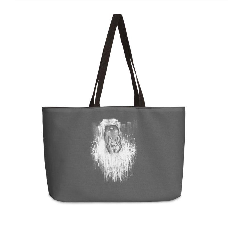 response Accessories Weekender Bag Bag by soymeeshii's artist shop