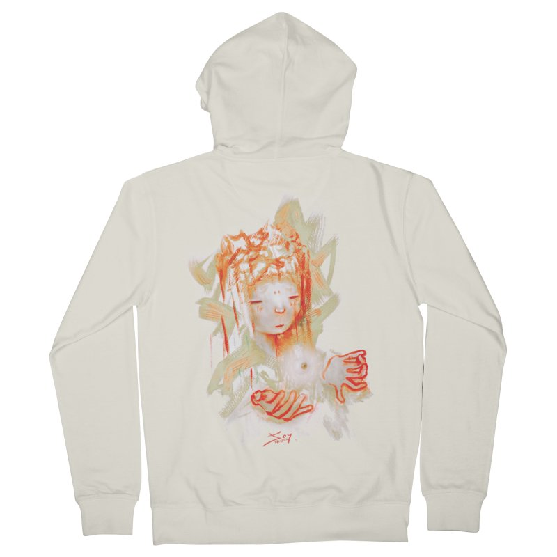 projections_2 Women's French Terry Zip-Up Hoody by soymeeshii's artist shop