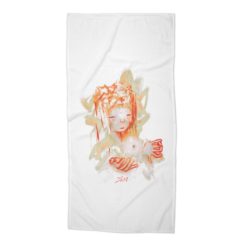 projections_2 Accessories Beach Towel by soymeeshii's artist shop