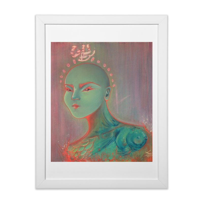 RBF kween Home Framed Fine Art Print by soymeeshii's artist shop