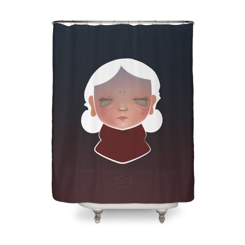 the wize (dark) Home Shower Curtain by soymeeshii's artist shop