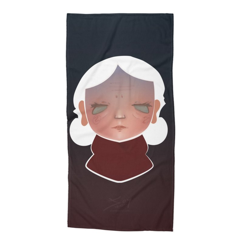 the wize (dark) Accessories Beach Towel by soymeeshii's artist shop