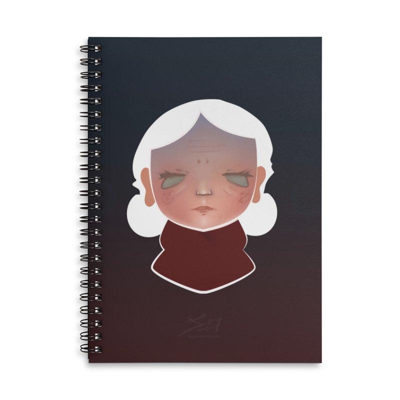 the wize (dark) Accessories Lined Spiral Notebook by soymeeshii's artist shop