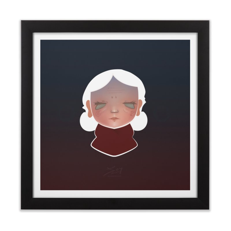 the wize (dark) Home Framed Fine Art Print by soymeeshii's artist shop