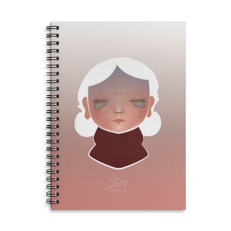 the wize (light) Accessories Lined Spiral Notebook by soymeeshii's artist shop