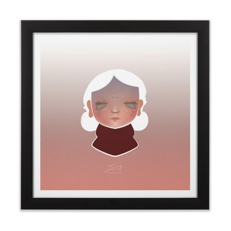 the wize (light) Home Framed Fine Art Print by soymeeshii's artist shop