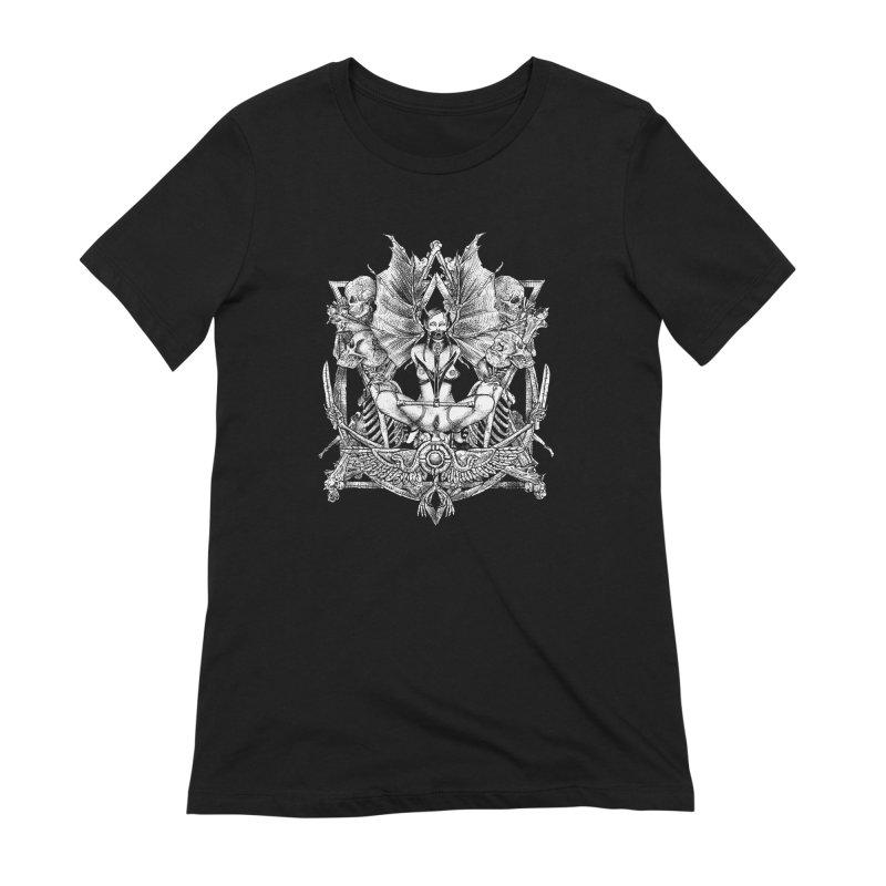 Knife skull picnic Women's Extra Soft T-Shirt by Sp3ktr's Artist Shop