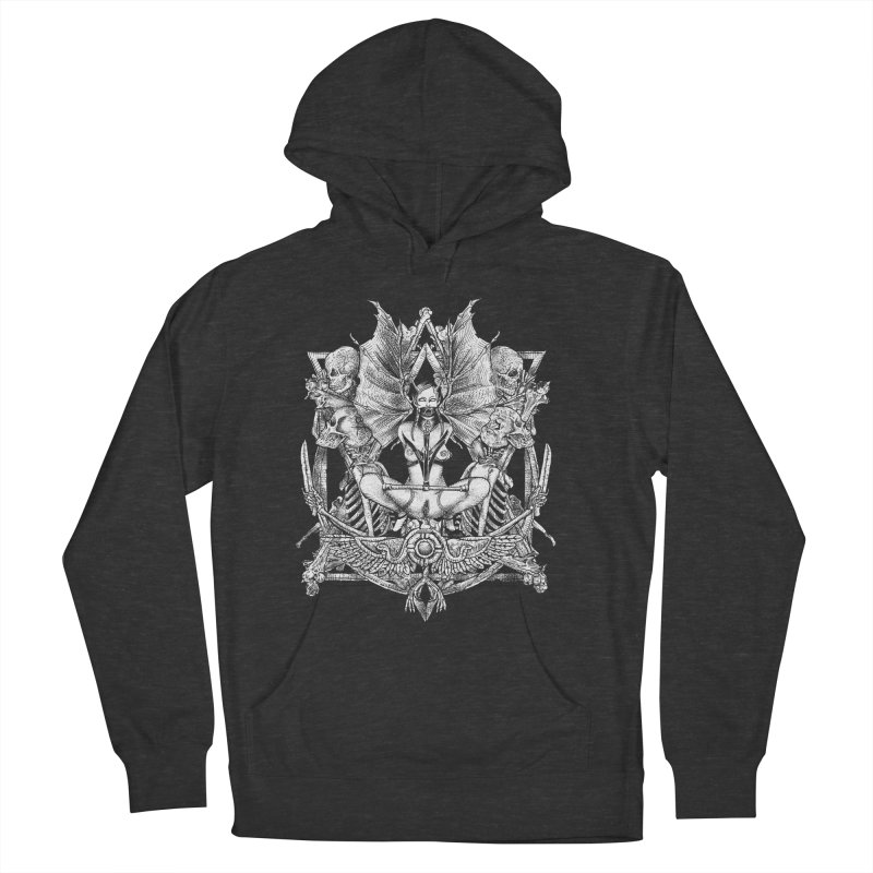 Knife skull picnic Women's French Terry Pullover Hoody by Sp3ktr's Artist Shop