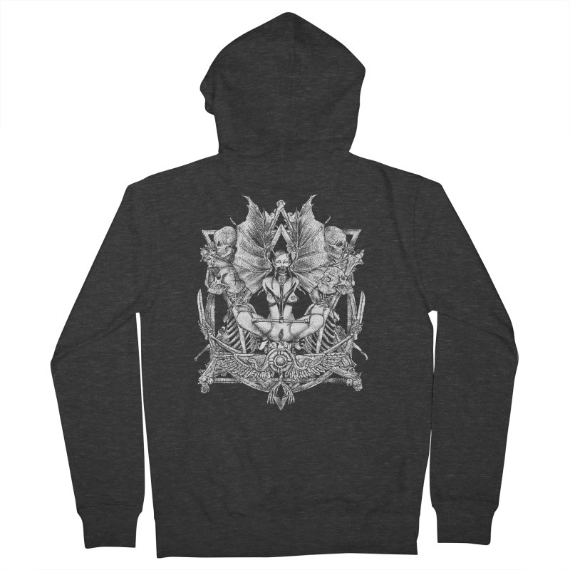 Knife skull picnic Women's French Terry Zip-Up Hoody by Sp3ktr's Artist Shop