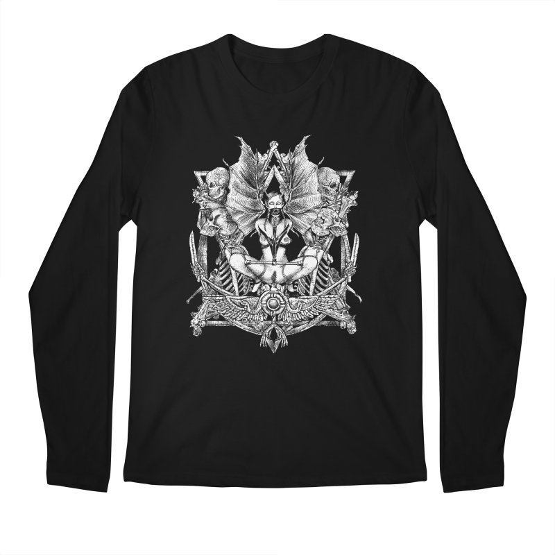 Knife skull picnic Men's Regular Longsleeve T-Shirt by Sp3ktr's Artist Shop