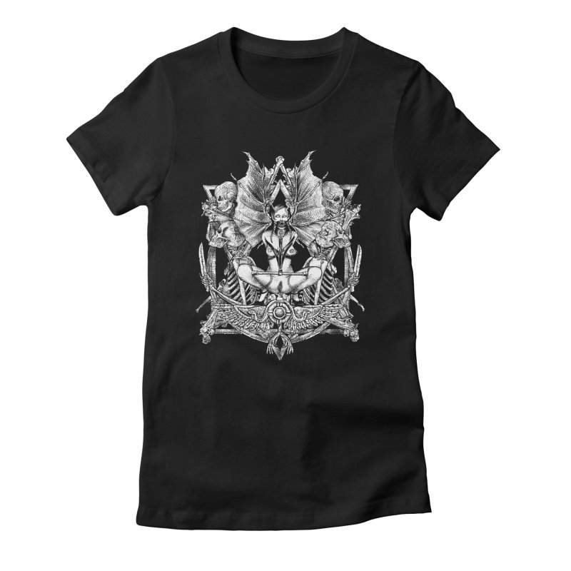 Knife skull picnic Women's Fitted T-Shirt by Sp3ktr's Artist Shop