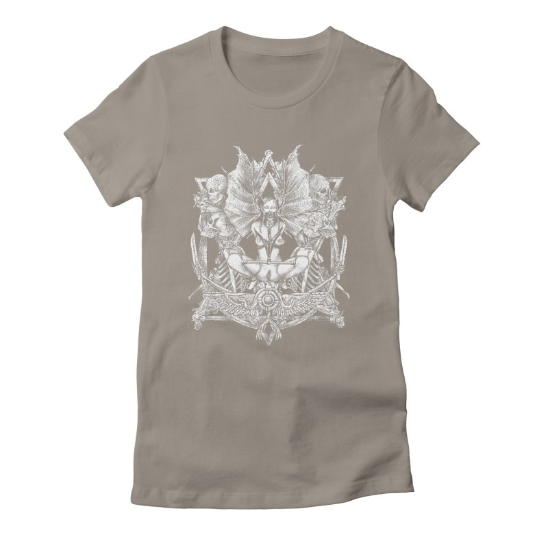 Knife skull picnic Women's Fitted T-Shirt by Sp3ktr's Artist Shop