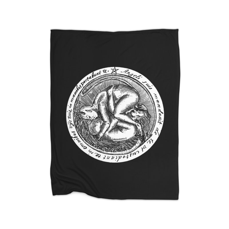 69_white Home Fleece Blanket Blanket by Sp3ktr's Artist Shop