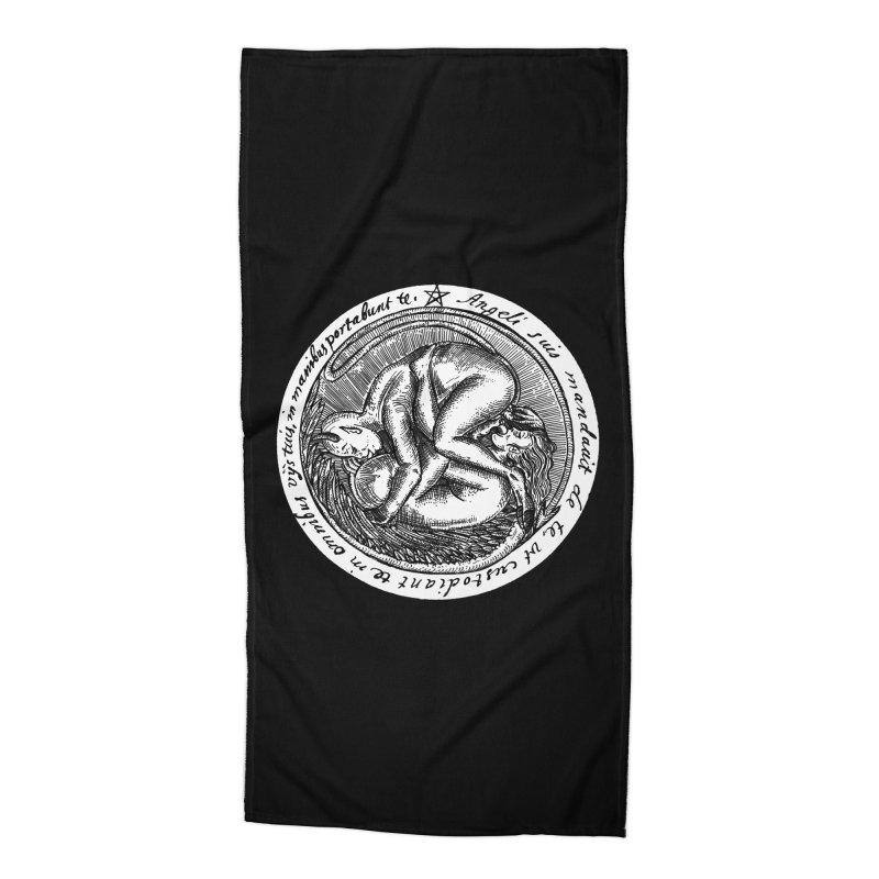 69_white Accessories Beach Towel by Sp3ktr's Artist Shop