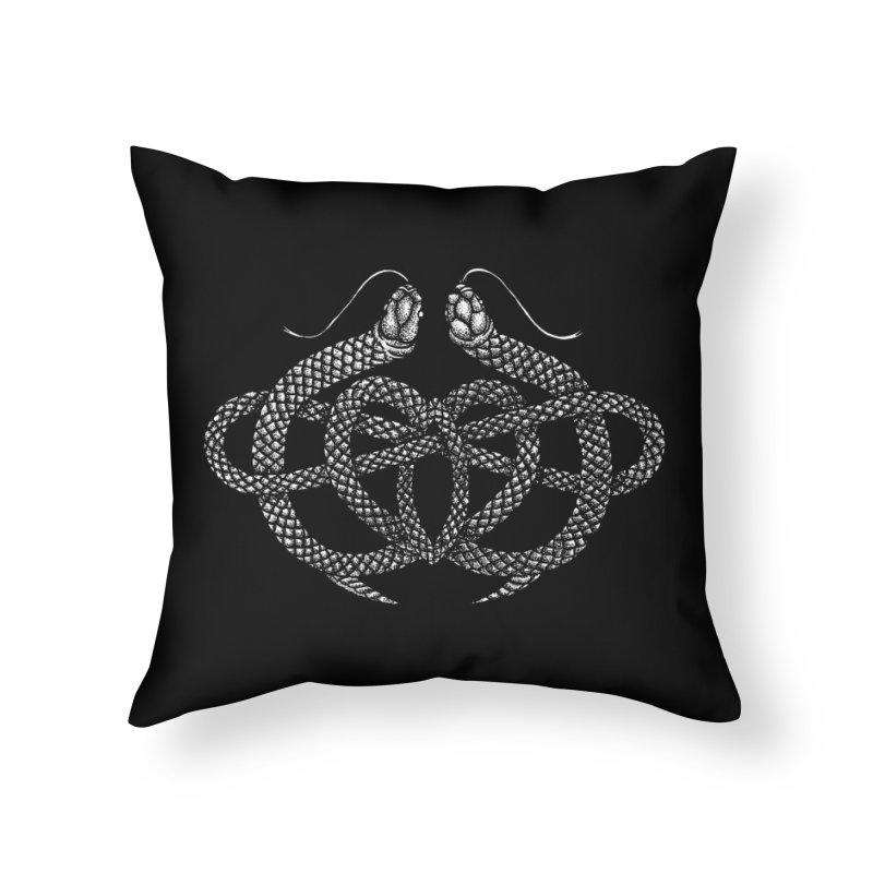 snake me knot Home Throw Pillow by Sp3ktr's Artist Shop