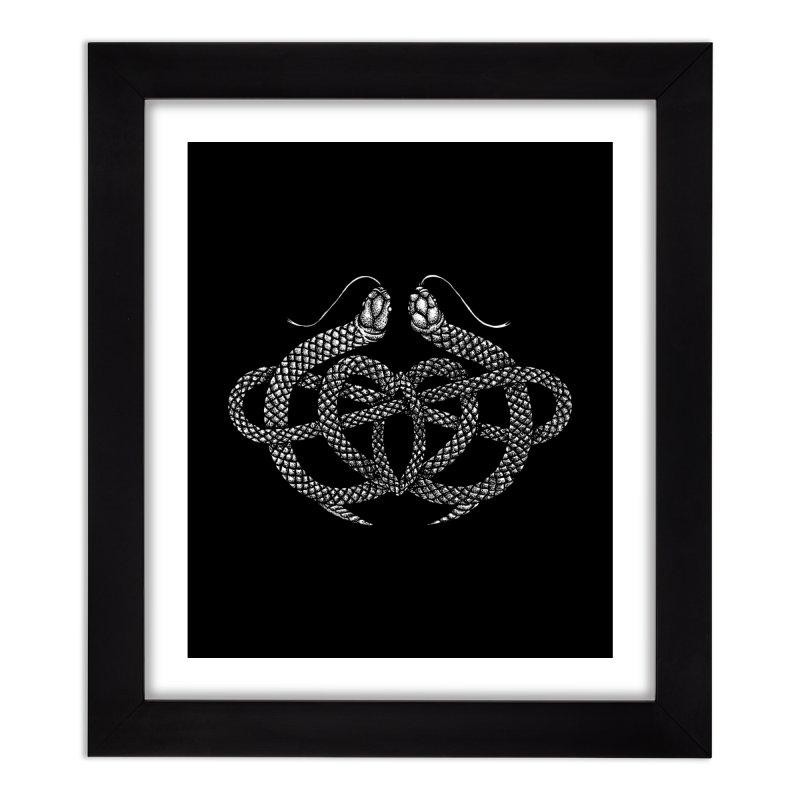 snake me knot Home Framed Fine Art Print by Sp3ktr's Artist Shop