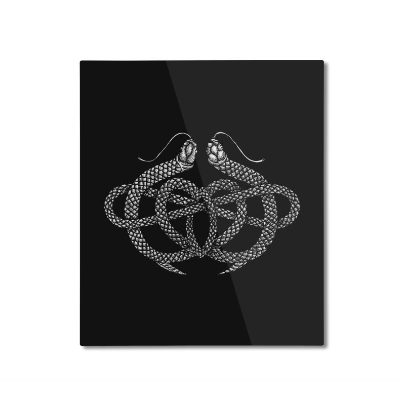 snake me knot Home Mounted Aluminum Print by Sp3ktr's Artist Shop